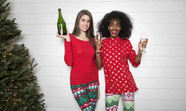 2 Women celebrating New Year